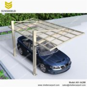A01-5628B - SUNSHIELD Metal Sheds - Car Canopy with PC Panel- Aluminum Carport for Sale3