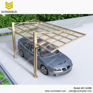 Alu Carport with PC Panel - PC Carport for Sale - Customized Carport Shed-Sunshield Aluminum Shelters