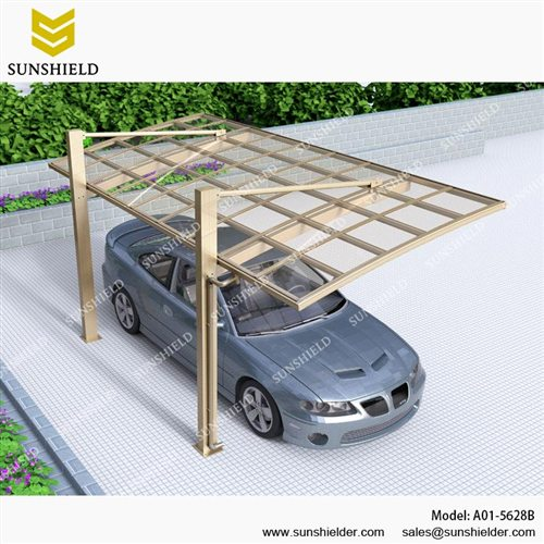 aluminum shelters cantilever car port for 1 car sunshield car shade. Black Bedroom Furniture Sets. Home Design Ideas