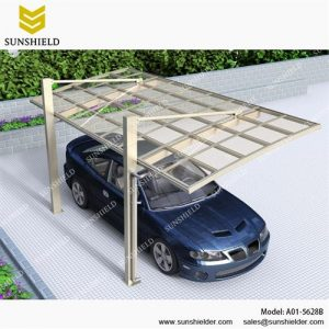 Alu Carport with PC Panel - Polycarbonate Carport for Sale - garage carport- Single Carport