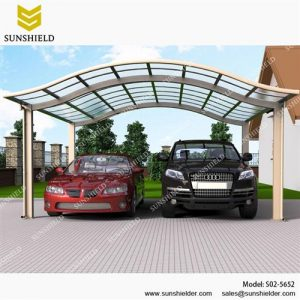 Polycarbonate carport aluminum carports car parking for Carport construction costs