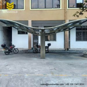 Luxury Carport -Metal Carport Canopy - Butterfly Waved Double Carport - Sunshield Aluminum Car Sheleter