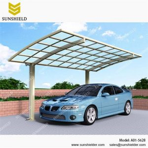 Outdoor Curved Carport-Metal Carport-Aluminum Single Vehicle Awnings