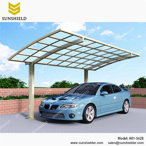 Metal Carport Canopy Outdoor Curved Carports Sunshield Car Shade
