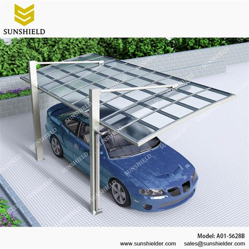Aluminum shelters cantilever car port for 1 car 1 car carport