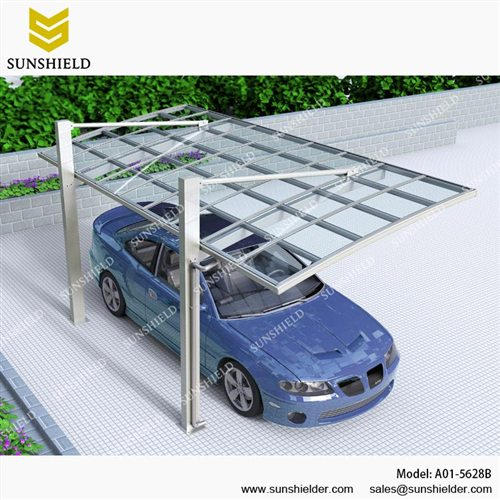 Aluminum Shelters Cantilever Car Port For 1 Car