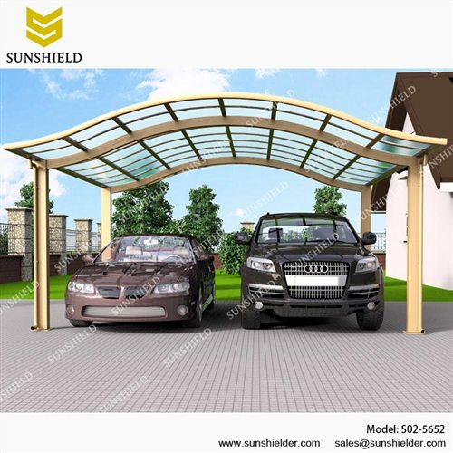 RV Prefab Carports-American aluminum car parking-Glass Roof Double carports  sc 1 st  Shelter Carport & Prefab Carports- Alu Carport - Modern Car Shade - Sunshield Shelter
