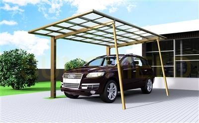 Removable Support Post- Aluminum Polycarbonate Shelter - Carport & Patio Option - Sunshield Shelter