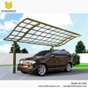 S01-5628 - SUNSHIELD Metal Sheds - Car Canopy with PC Panel - Aluminum Carport for Sale -1