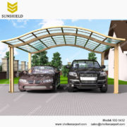 S02-5652 - SUNSHIELD Metal Sheds - Car Canopy with PC Panel- Aluminum Carport for Sale1