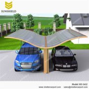 S03-5652 - SUNSHIELD Metal Sheds - Car Canopy with PC Panel - Aluminum Carport for Sale -1
