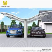 S03-5652 - SUNSHIELD Metal Sheds - Car Canopy with PC Panel - Aluminum Carport for Sale -3