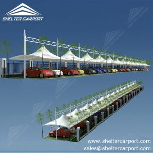 SCA06 - car parking shed - carport for sale - parking canopy - matel car shade - shelter carport -1