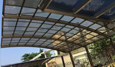 SUNSHIELD Carport - Alu Carport with PC Panel - Polycarbonate Carport for Sale - Aluminum Carport Awnings - Easy Installation