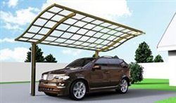 SUNSHIELD Carport - Alu Carport with PC Panel - Polycarbonate Carport for Sale - Aluminum Carport Awnings - Image of Diverse Model Design -1