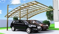 SUNSHIELD Carport - Alu Carport with PC Panel - Polycarbonate Carport for Sale - Aluminum Carport Awnings - Image of Diverse Model Design -4