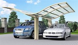 SUNSHIELD Carport - Alu Carport with PC Panel - Polycarbonate Carport for Sale - Aluminum Carport Awnings - Image of Diverse Model Design -7