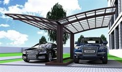 SUNSHIELD Carport - Alu Carport with PC Panel - Polycarbonate Carport for Sale - Aluminum Carport Awnings - Image of Diverse Model Design -8