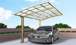 SUNSHIELD Carport - Alu Carport with PC Panel - Polycarbonate Carport for Sale - Aluminum Carport Awnings - Image of Diverse Model Design -9
