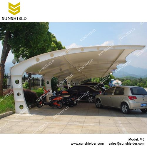 Metal Sheds with Tensile Fabric  sc 1 st  Shelter Carport & Metal Sheds with PVDF Membrane - Portable Carport Canopy - Sunshield