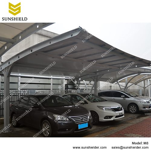 retractable carport tents metal sheds with pvdf membrane portable carport canopy sunshield
