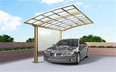 Side PC Sheet- Metal Car Shelter - Metal Carport Canopies- Aluminum Arched Awning -Sunshield