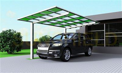 Two Color Polycarbonate Carport- PC Shelter-Metal Carport Canopy- Metal Car Shelter - Metal Carport Shelter -Sunshield (2)