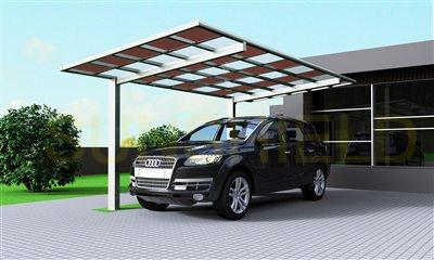 Two Color Polycarbonate Carport- PC Shelter-Metal Carport Canopy- Metal Car Shelter - Metal Carport Shelter -Sunshield (3)