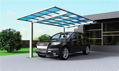 Two Color Polycarbonate Carport- PC Shelter-Metal Carport Canopy- Metal Car Shelter - Metal Carport Shelter -Sunshield