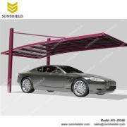 metal carport-cantilever-Alu minium Parking sheds-Cantilever Carports-High Snowload