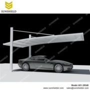 small single carport garage-aluminum carports- Cantilever car parking shed -Florida
