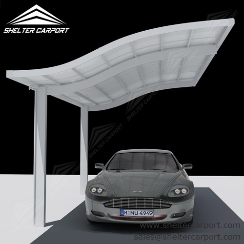 Small Car Canopies : Large aluminum carport with waves top shelter