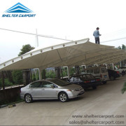 SCA00 - car parking shade - outdoor shed structures - car parking canopy - shelter carport - 7