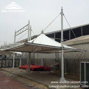 SCA07 - car parking shed - carport for sale - parking canopy - matel car shade - shelter carport -2