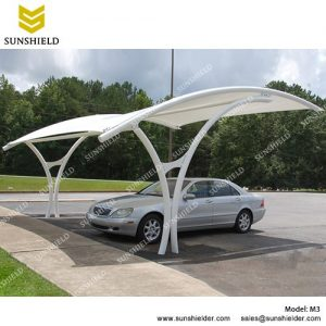 SUNSHIELD M3 Metal Car Ports - Portable Membrane Carport for Sale -2