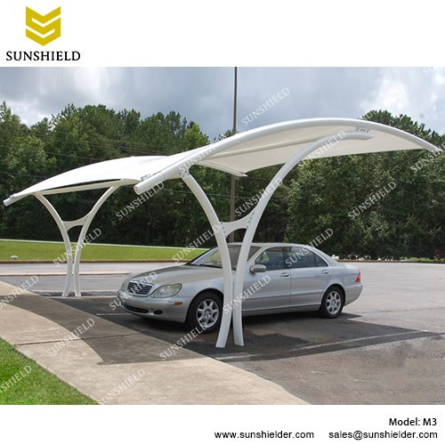 SUNSHIELD M3 Metal Car Ports   Portable Membrane Carport For Sale  2