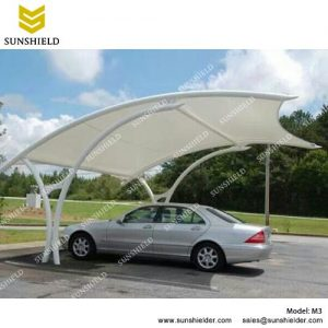 SUNSHIELD M3 Metal Car Ports - Portable Membrane Carport for Sale -4