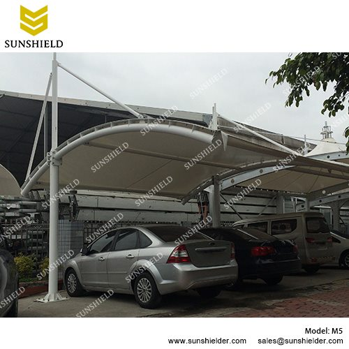 Car Shed with Metal Framework and Fabric Top  sc 1 st  Shelter Carport & Car Shed Canopy Sale in UAE - Membrane Carport - SUNSHIELD Shelter