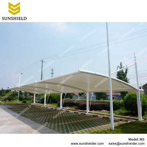 SUNSHIELD M5 Metal Car Ports - Portable Membrane Carport for Sale -2  sc 1 st  Shelter Carport & Car Shed Canopy Sale in UAE - Membrane Carport - SUNSHIELD Shelter