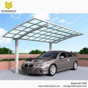 A01-5628 - SUNSHIELD Alu Carport - Metal Sheds - Car Canopy with PC Panel - Aluminum Carport for Sale -1