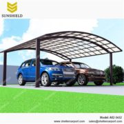 A02-5652 - SUNSHIELD Aluminum Carport Awnings - Metal Sheds - Car Canopy with PC Panel - Aluminum Carport for Sale -1