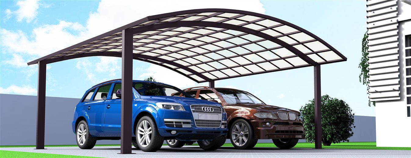 A02-5652 - SUNSHIELD Aluminum Carport Awnings - Metal Sheds - Car Canopy with PC Panel - Aluminum Carport for Sale_Jc