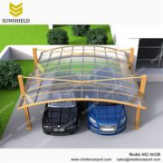 A02-5652B - SUNSHIELD Aluminum Carport Covers - Metal Sheds - Car Canopy with PC Panel - Aluminum Carport for Sale -3