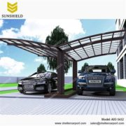 A03-5652 - SUNSHIELD Aluminum Car Canopy with Solid Panel - Metal Sheds - Car Canopy with PC Panel - Aluminum Carport for Sale -2