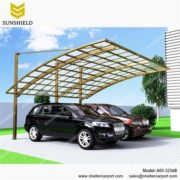 A05-5256B - SUNSHIELD Aluminum Carport Canopy with Transparent Roof - Metal Sheds - Car Canopy with PC Panel - Aluminum Carport for Sale -1