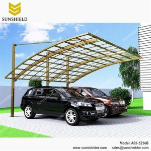 Residential Cantilever Carport - Aluminum Carport with PC Panel - Polycarbonate Carport for Sale - Aluminum Double Shelter - Sunshield