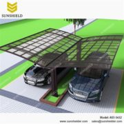 Alu Carport with PC Panel - Polycarbonate Carport for Sale - Aluminum Carport Awning - Custom Car Ports