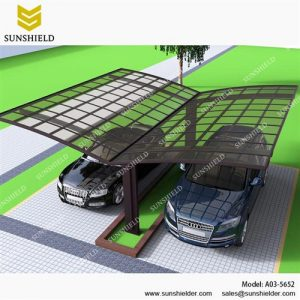 Alu Carport with PC Panel - free standing carport - Aluminum Carport Awning - Custom Car Ports