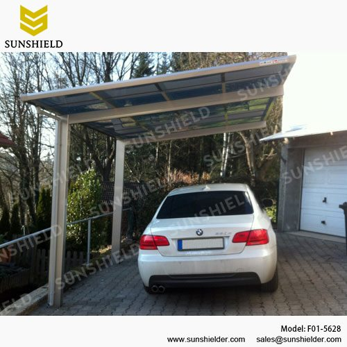 cheap for discount f2f2a b2e89 Metal Car Canopy - Prefab Flat Roof Patio - Sunshield Single ...
