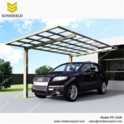 F01-5628 - SUNSHIELD Aluminum Carport Sheds with Transparent Top - Metal Sheds - Car Canopy with PC Panel - Aluminum Carport for Sale -3